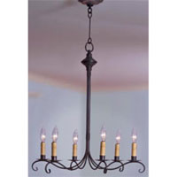 Signature 6 Light 23 inch Dark Brass Chandelier Ceiling Light